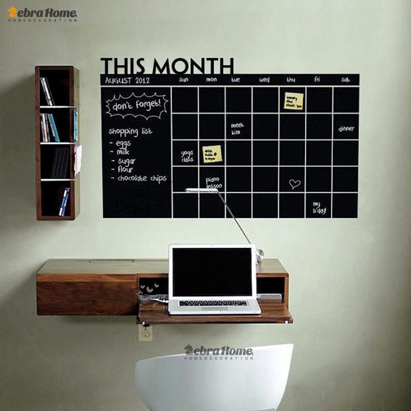 Diy Monthly Planner Chalkboard Vinyl Wall Calendar Decals Stickers