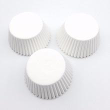100 Stks/partij Pure White Cupcake Liners Food Grade Papier Cup Cake Bakken Cup Muffin Keuken Cupcake Gevallen Cake Mallen