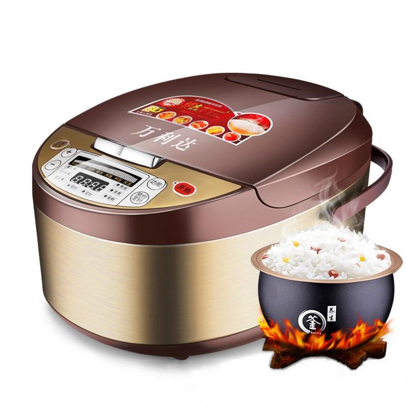 Rice cooker Cooking pot Electric skillet Cooking rice Porridge Soup Smart booking Multifunction 3L large capacity