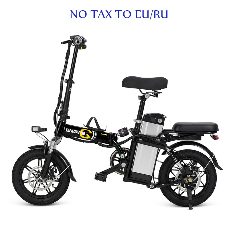 14inch Aluminum Folding Electric Bike 48V21A/32A LG Lithium Battery 350W Powerful Motor electric Bicycle Scooter City e bike
