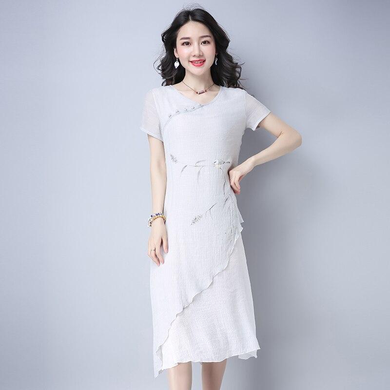 Платье из льна из китая