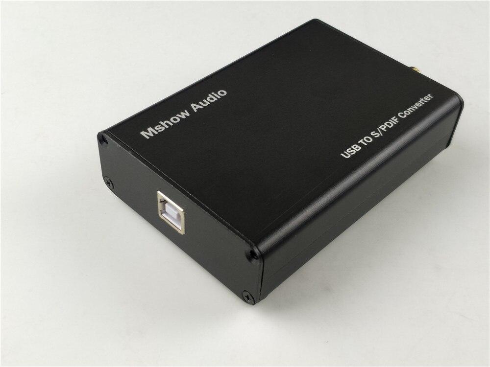 New XMOS XU208 USB To Coaxial DAC Digital Interface / I2S Support DSD DOP / HIFI audio/