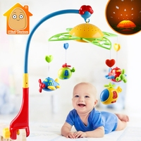 Baby Rattles Toy 0 12 Months Crib Mobile Musical Bed Bell With Sky Stars Rattles Projection Cartoon Early Learning Kids Toys