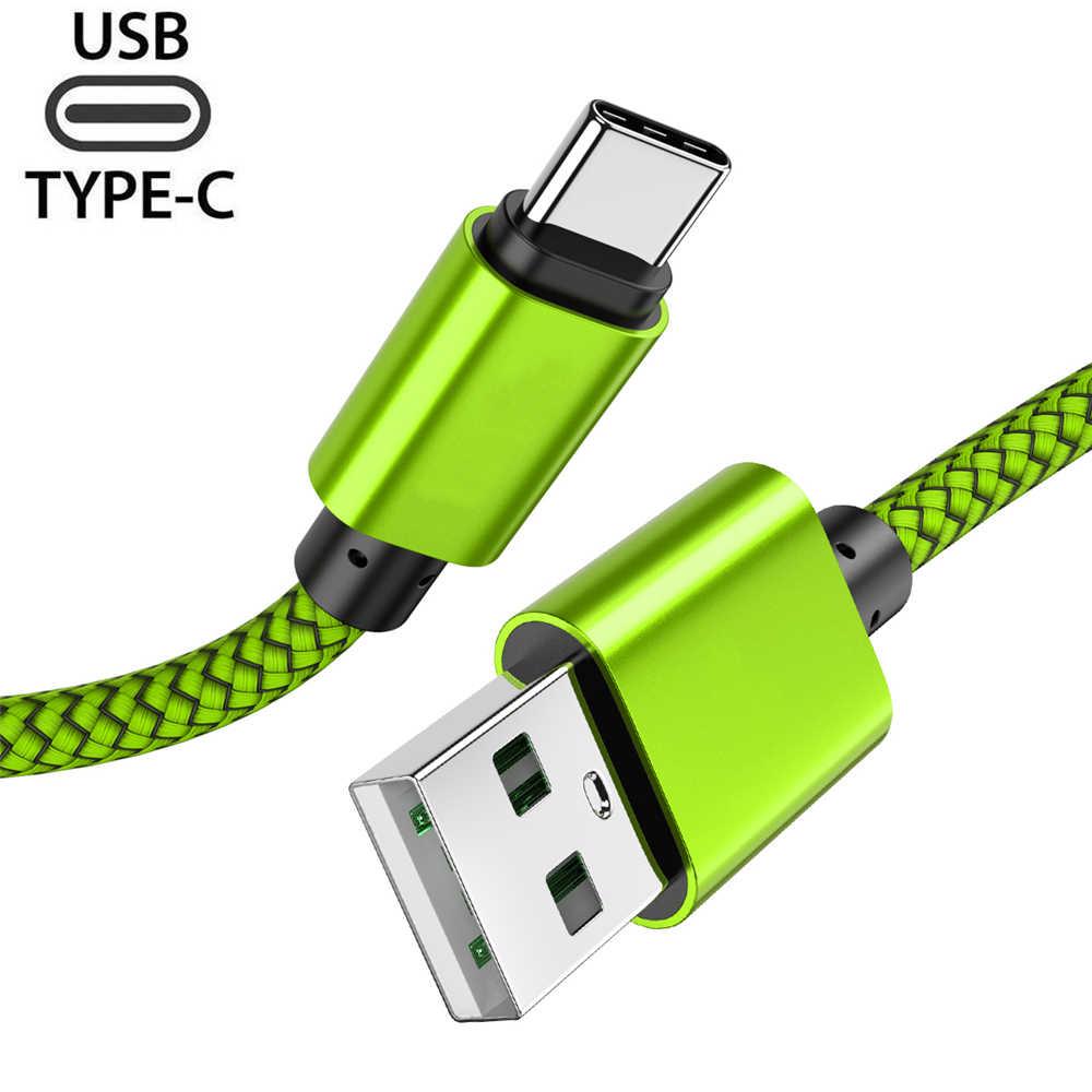 Кабель usb type C 3,0 быстрое зарядное устройство для samsung S10 S9 A50 A40 мобильный телефон type-C USB кабель для передачи данных для huawei P30 Pro P20 lite