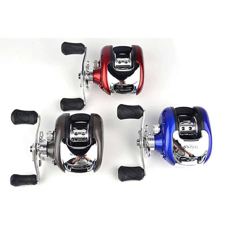 Fishing Reel Baitcasting Water Drop Wheel Lure Reel Magnetic Brake Ice Rafting Fishing