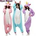 Super natural adulto inverno nova rosa roxo tenma pegasus unicórnio azul pijama animais onesies cosplay pijama do hoodie