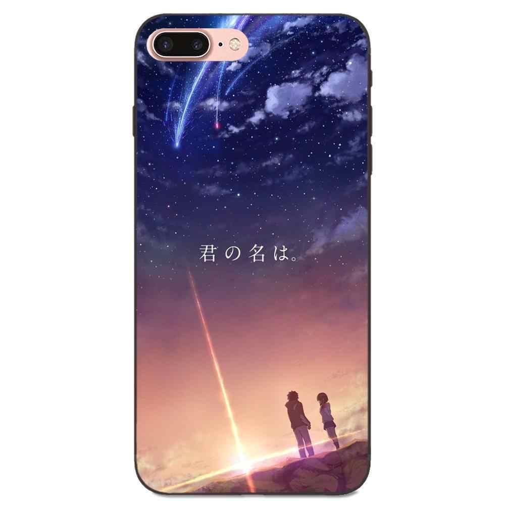 Kiminonawa Il Vostro Nome Giapponese Anime Top Per Huawei Onore Godere Compagno Nota 6 s 8 9 10 20 Lite Gioco pro P smart Soft Protezione Custodie