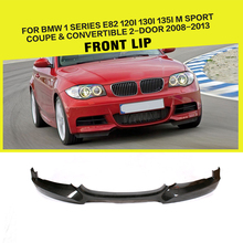 Передний бампер спойлер сплиттеры для BMW 1 серии E82 E88 M Sport M tech Coupe Кабриолет 2008-2013 углеродное волокно/FRP