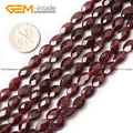 Natural Faceted Oval Garnet Beads For Jewelry Making 15inches DIY Jewellery Free Shipping Wholesale Gem-inside