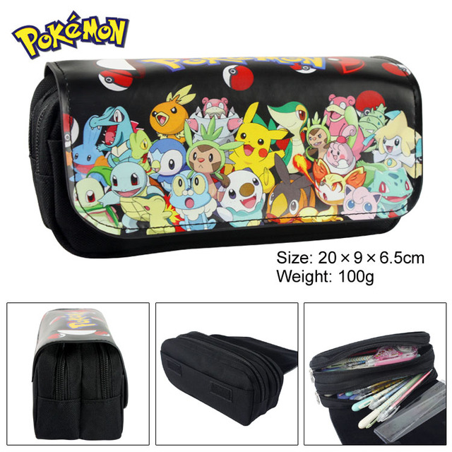 3c8b5201ca Pokemon Go Anime Cosmetic Bags Cases Stationery bags Pocket Monster Zipper  Student Pencil Case Bag Office School Supplies