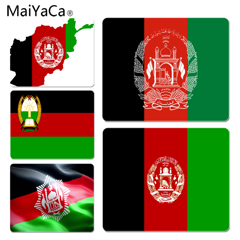 MaiYaCa Cool New Afghani Flag Computer Gaming Mousemats Size for 18x22cm 25x29cm Rubber Mousemats