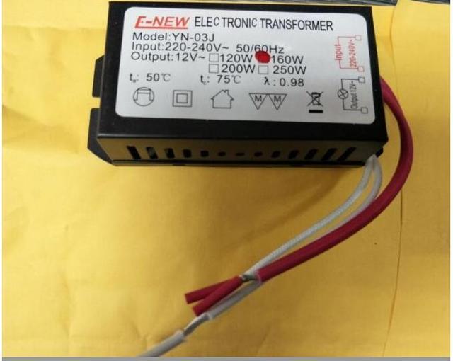 חדש אלקטרוני שנאי 160W G4 220V כדי 12V עבור מתח נמוך גביש אור חרוזים מנורת הלוגן
