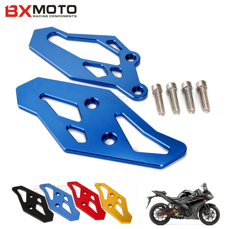 YZF-R3 YZF-R25 Motorcycle accessories Blue CNC Footrest Rearset Foot Peg Plate Guard Blue For Yamaha YZF R3 YZF R25 2013-2015 cnc aluminum motorcycle accessories rearset base foot pegs rear for yamaha yamaha yzf r3 yfz r3 mt 03 mt03 mt 03 2015 2016