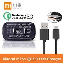Original XIAOMI 5s Quick Charger ,xiaomi mi5 5s plus 12V/1.5A Wall USB QC 3.0 Fast Charger & Type-C cable XIaomi mi 5