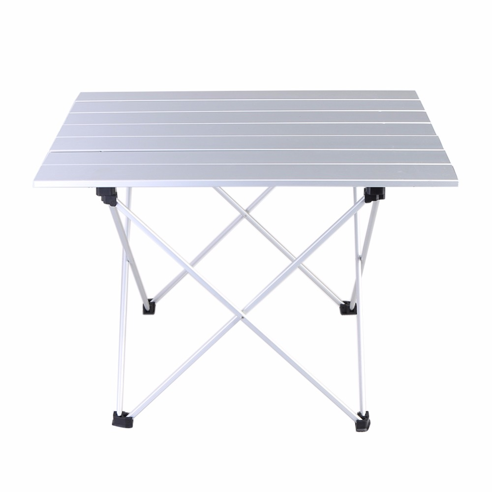 купить Portable Camping Table Outdoor Aluminium Alloy Foldable Folding Picnic Table Ultralight Mesa Plegable For Hiking Picnic Travel по цене 1458.21 рублей