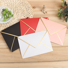15pcs/lot, 190mmx140mm, 175mmx125mm Gold Stamping Envelopes 250G Pearl Paper Wedding Business Invitation Envelopes