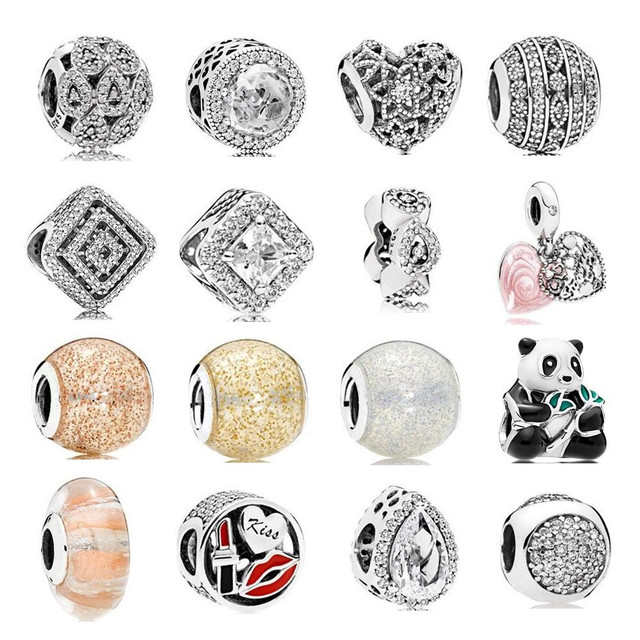 2017 Autumn Collection Beads Pure 925 Sterling Silver Charms Clip & Beads fits for  Bracelet DIY Accessories Jewelry.