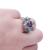 Anéis Flor para o amante de luxo elegante jóias de prata rhodium new purple vermelho cor Cubic Zircon mulheres Anel de Noivado