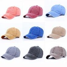 Washed Denim Retro Baseball Cap Men Women Solid Color Bonnet Female Male Unisex Wholesale