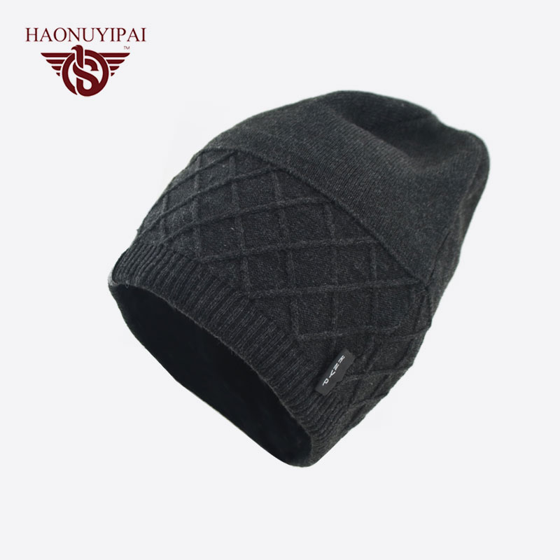 6bd72220493461 Cool Mens Beanies Hats Black Knitted Winter Warm Adult Male Cap Gorros  Fashion Casual Style Solid Color Skullies Bonnet Hat-in Men's Skullies &  Beanies from ...