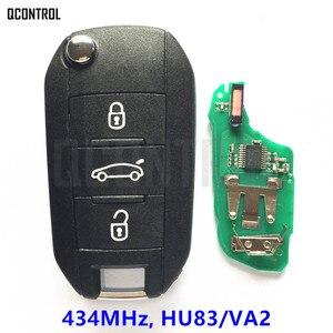 Image 1 - QCONTROL Car Remote Key for Peugeot 208 2008 301 308 508 Hella 434MHz HU83 or VA2 Blade