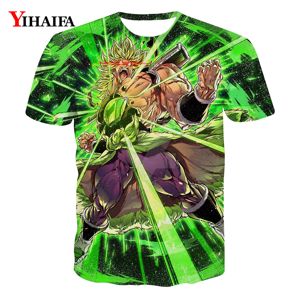 Men T shirt 3D Print Dragon Ball Z Graphic Tee Hipster Anime Casual Tee Shirts Summer DBZ Pattern Short Sleeve Tops(China)