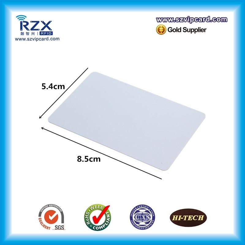 Thermal printable FM1108 plastic 13.56Mhz card HF RFID blank card for Zebra printer seek thermal