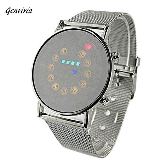 Herenhorloge Klassieke Trend Van Rolling Led verlichting Horloge ...