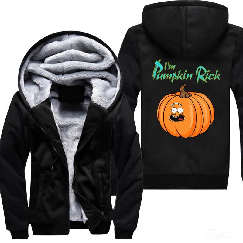 I Am Pumpkin  Rick Men's thinckened Fleece Fashion Hoodies