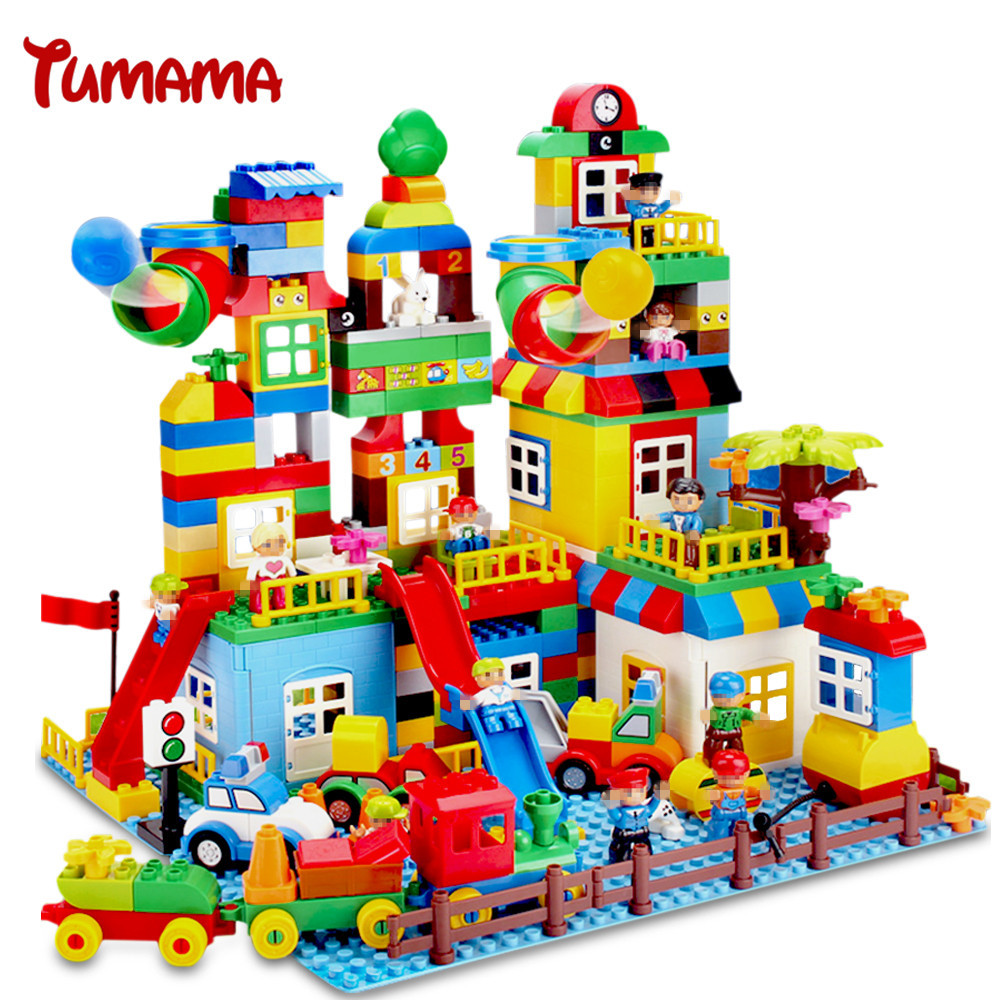 Tumama 210PCS Big Size Building Blocks Compatible with Legoed Duplo Number Train Bricks Kids Gift Educational Toys For Children