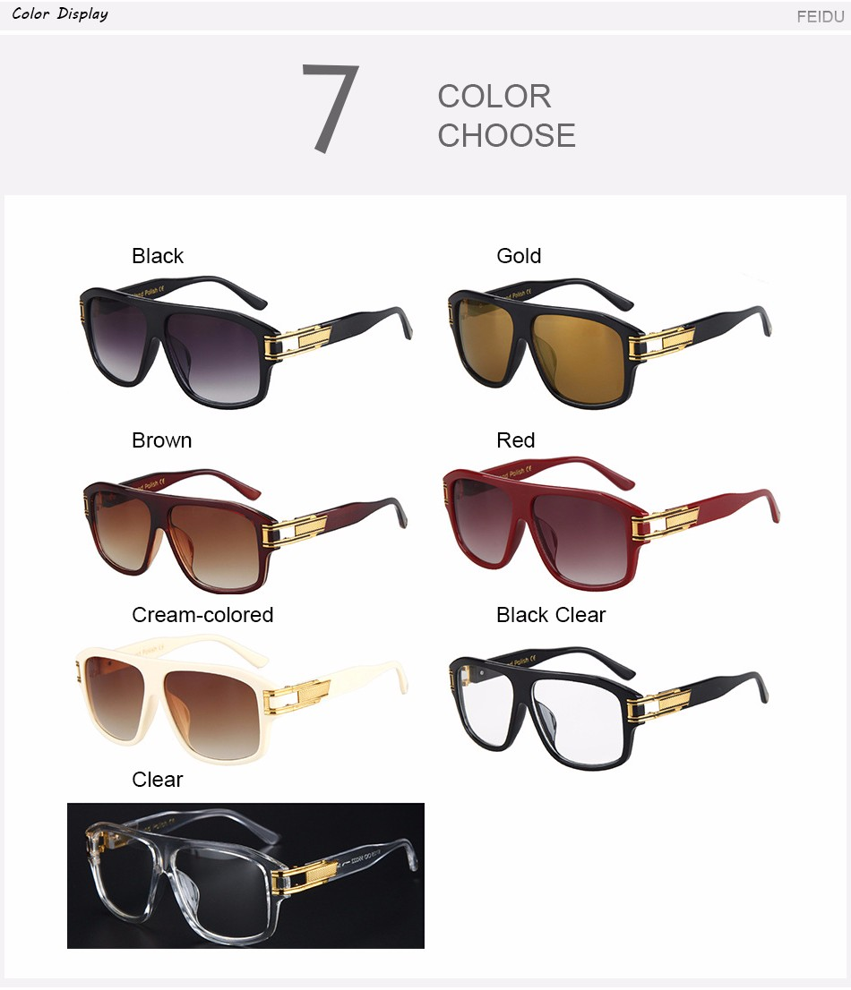 2573c632db3 FEIDU 2016 Fashion Wide Temple Polarized Pilot Sunglasses Men Brand Alloy  Frame Sun glasses For Men Driving Gafas Oculos De 2995221401 1780146561 ...