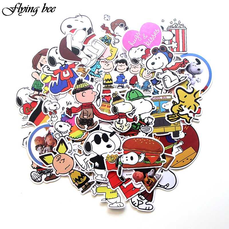 Flyingbee 40 Pcs Dog Pet Funny Stickers for Luggage Laptop Guitar DIY Wall Car Sticker Kids Toys Waterproof Sticker X0085