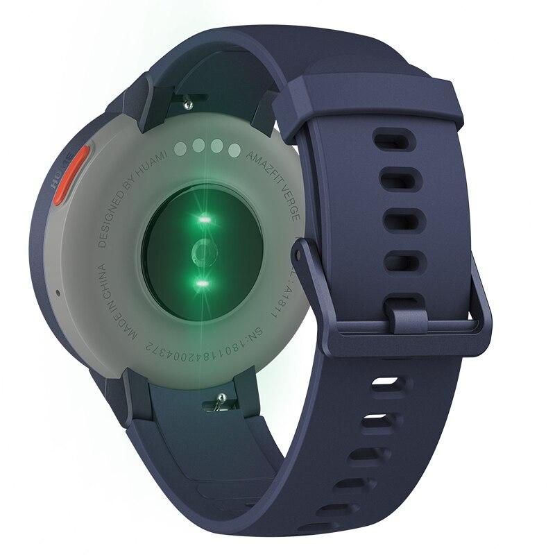 Versión Global Huami Amazfit Verge Sport Smartwatch GPS Bluetooth reproducción de música llamada respuesta mensaje inteligente Push Monitor de ritmo cardíaco - 4