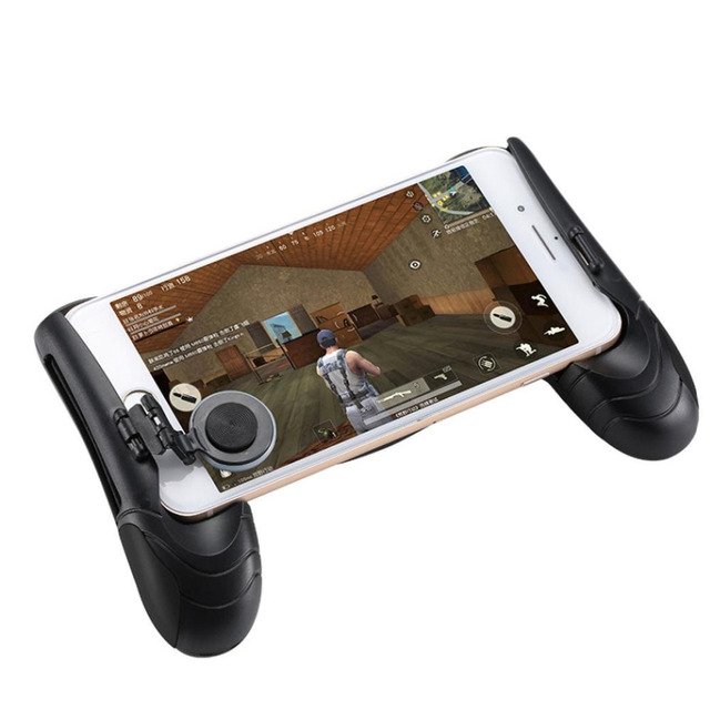 Games Accessories Game Joystick With Deskholder For Playing Game Black Phone Joystick Grip for All Android  iOS SmartPhone Games
