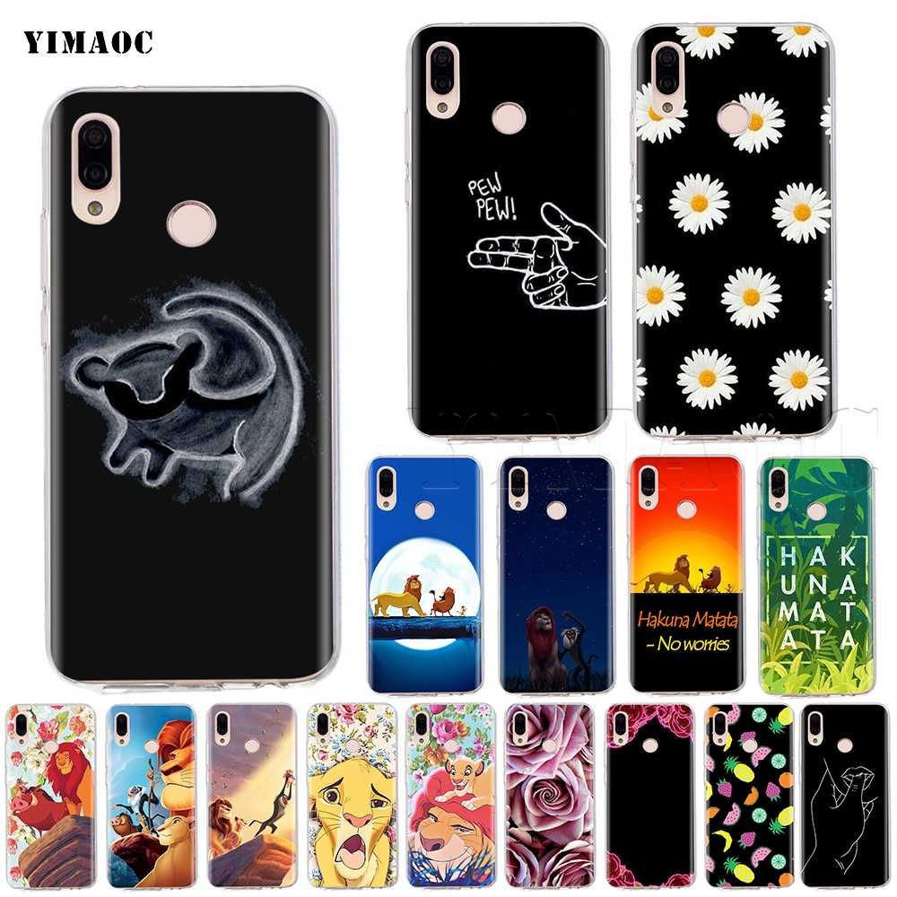 YIMAOC Hakuna Matata Lion King Case for Huawei P8 P9 P10 P20 P30 P Smart Lite Pro Mate 10 Y6 Prime 2018
