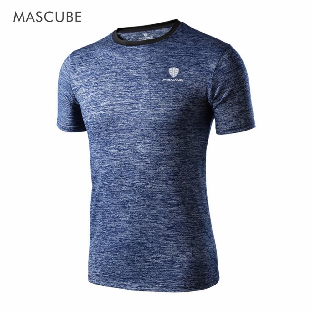 Sportbekleidung Stetig Mascube Marke Tops T-stücke Trocknen Schnell Slim Fit Hohe Qualität T-shirt Männer Sport Kleidung Kurzarm T Shirts T-shirts