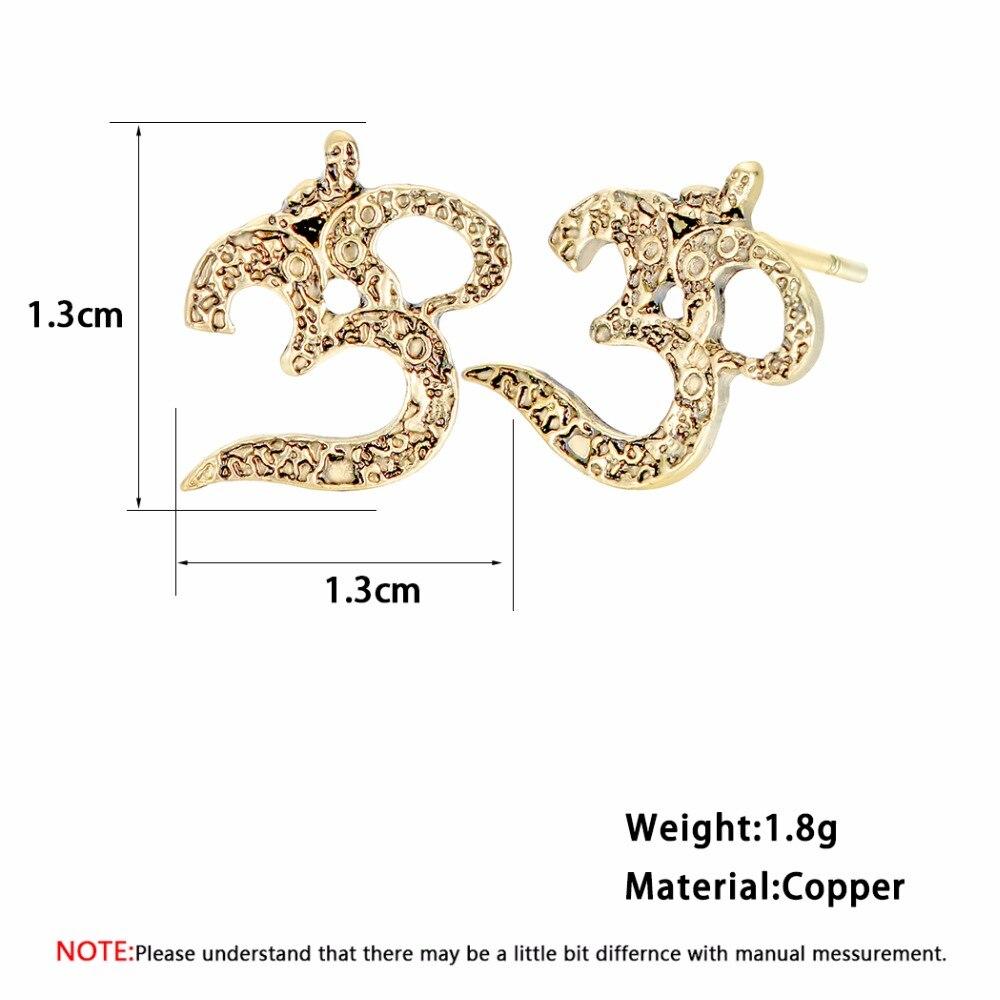 ebd7bd397 QIMING Om Yoga Earrings For Women Antique Silver Bronze Ohm Meditation  Bijoux Femme Viking Stud Earrings Ethnic Jewelry -in Stud Earrings from  Jewelry ...