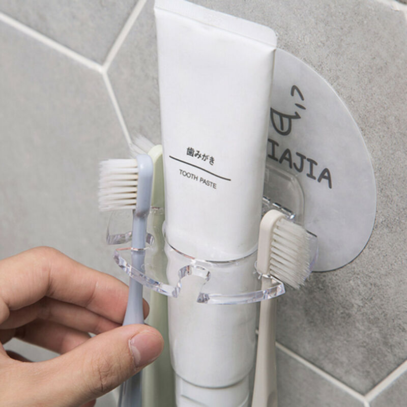 3 Style Toothbrush Holders Easy Toothbrush Suction Cups Holder Stand 5 Racks Home Bathroom Wall Mount