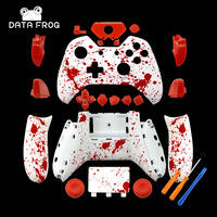 DIY Replacement Controller Shell Blood Red Splash Design Splatter For Xbox One Shell Mod Kit Buttons