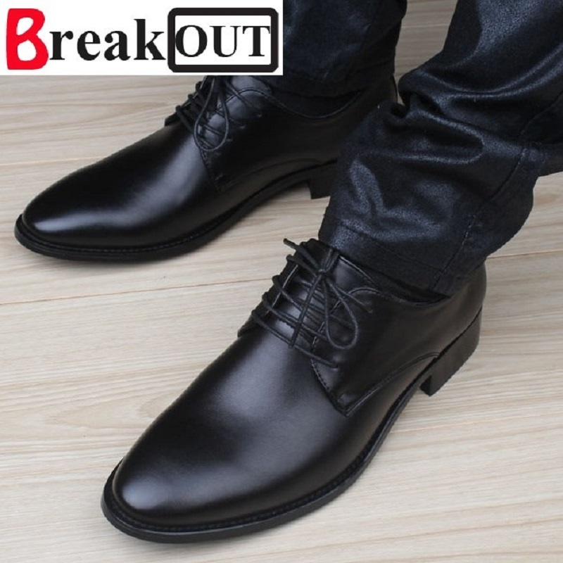 Break out new quality men shoes for men business dress shoes leather lace up breathable summer