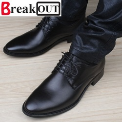 Break out new quality men shoes for men business dress shoes leather lace up breathable summer.jpg 250x250