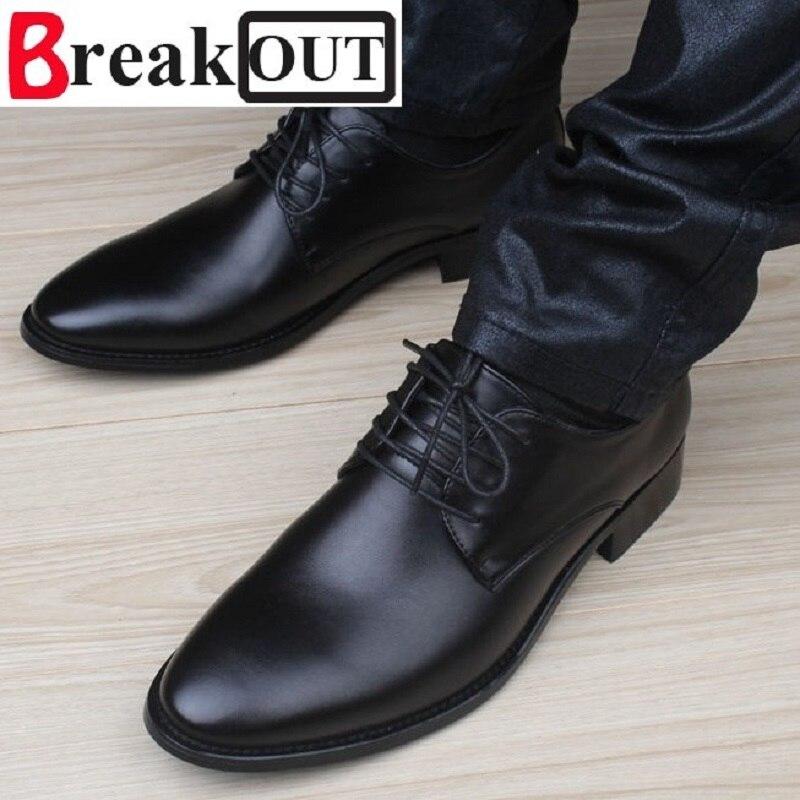 Romper los Nuevos Hombres de Calidad Zapatos para Hombres Zapatos de Vestir de N