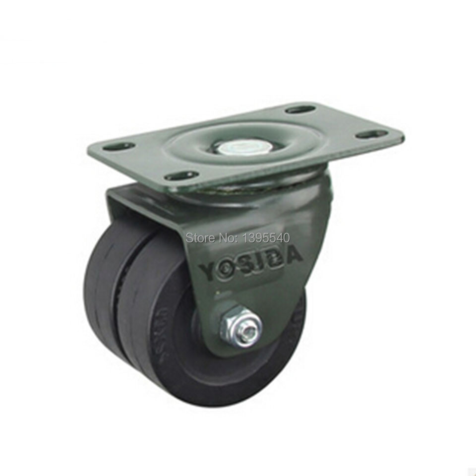New 2.5'' Swivel Wheel Caster Heavy Castors Furniture Castor Silence Universal Wheel Industrial Wheel Double Wheel Load 200KG new  3   swivel wheels caster industrial