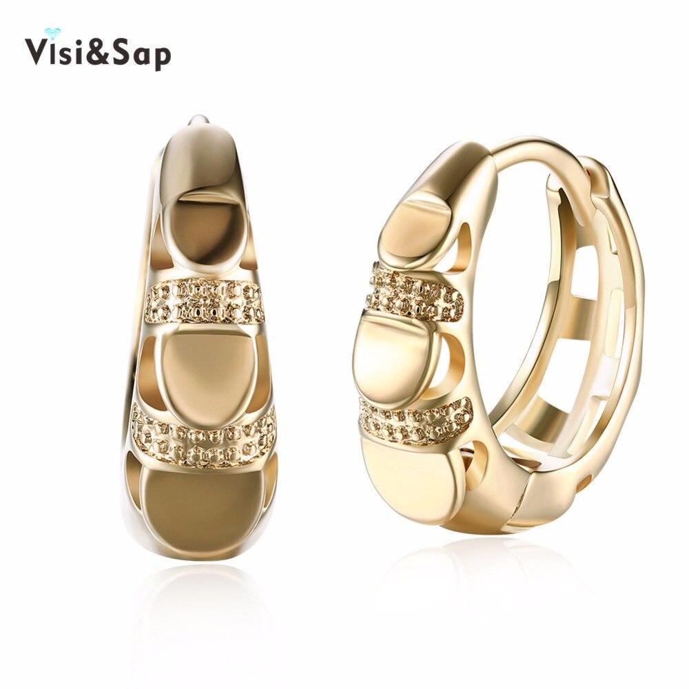 Visisap модные серьги кольца в форме пальца для женщин Свадебные подарочные серьги Винтажные Ювелирные изделия цвета шампанского золото VKZCE123        АлиЭкспресс