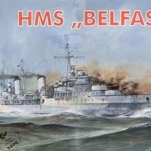 Военный морской военный корабль бумажная модель Британский крейсер Aidingbaoji