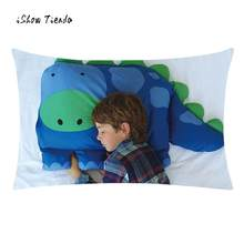 Hot Sale Cute Dinosaur Pillow Cover Kids Animal Pillowcase Boys Dylan The Dinosaur Pet Pillow Sham For Children Best Gift(China)