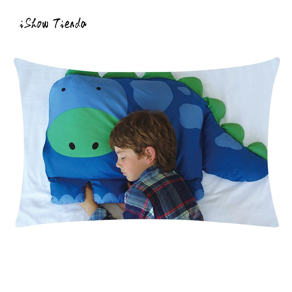 Hot Sale Cute Dinosaur Pillow Cover Kids Animal Pillowcase Boys Dylan The Dinosaur Pet Pillow Sham For Children Best Gift