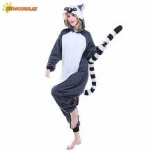 (Ship from US) Newcosplay Unisex Halloween Cosplay Costume Homesuit Sleepwear  Onesie Pijamas Christmas Unicorn Ring Lemur Women Cute Pajama Set 0f580ef1d