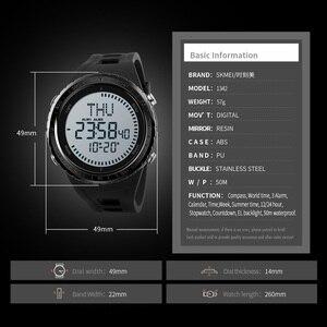 Image 5 - 2018 skmei relógio digital masculino masculino ao ar livre 50 m à prova dwaterproof água relógio de contagem regressiva compass cronógrafo relógio do esporte homem relogio masculino