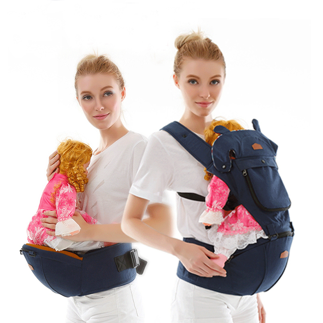 Comfy & Sturdy Ergonomic Baby Carrier – sky blue